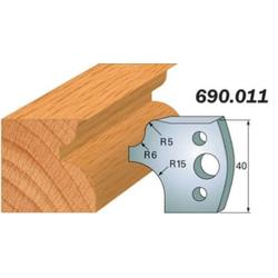 Комплекты ножей и ограничителей серии 690/691 #011 CMT Ножи и ограничители для фрез 40 мм Ножи